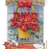 Poinsettia 3-D Swing Greeting Card
