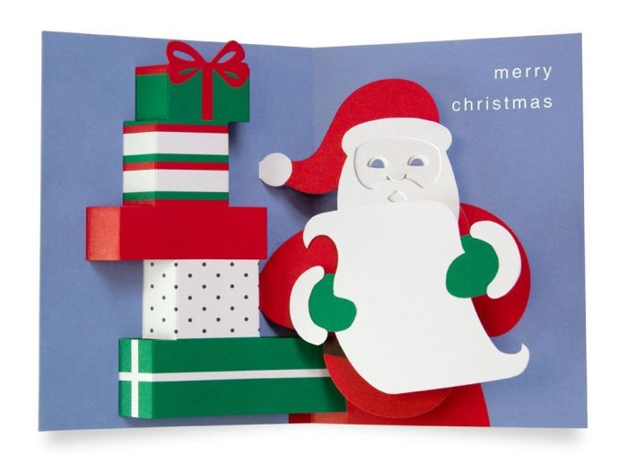 Pop up cards santa 39 s list 3d christmas cards for 3d xmas cards to make