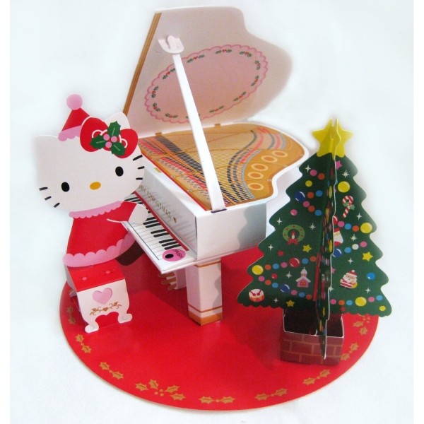 16 christmas melodies pop up 3d decorative christmas card for Christmas card 3d designs