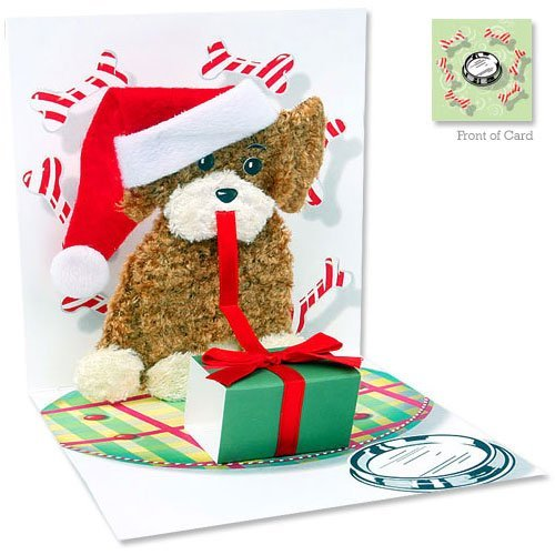 3D Greeting Card – CHRISTMAS PUPPY