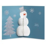 A+B Designs Honeycomb Snowman Holiday Cards