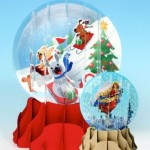 Greeting Card Pop-up 3-d Snow Globe Holiday Dogs