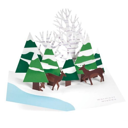 Forest Scene PoP-Up Holiday Cards