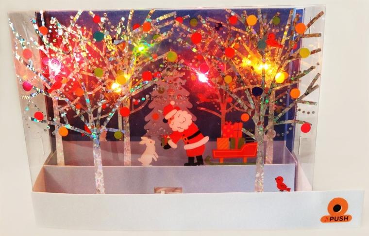 Illuminated Christmas Lights Pop Up Greeting Card 3d Christmas Cards