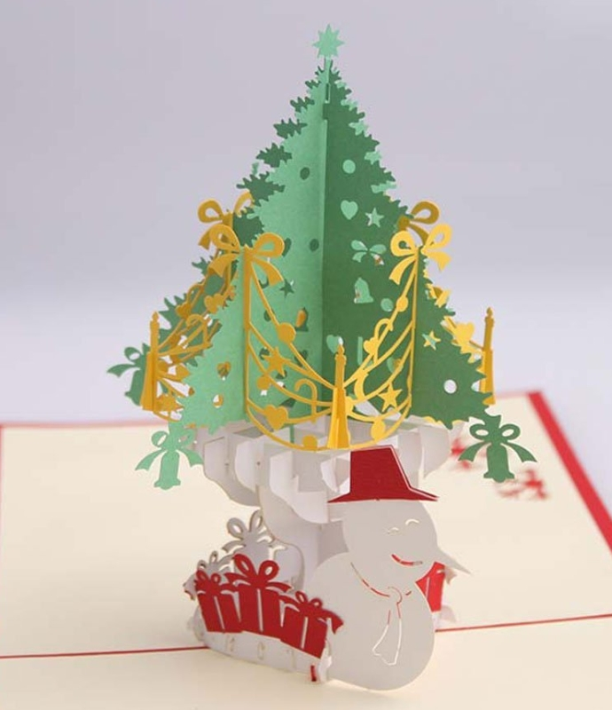 Artistic Pop-up 3D Christmas Cards Christmas Tree | 3d christmas cards