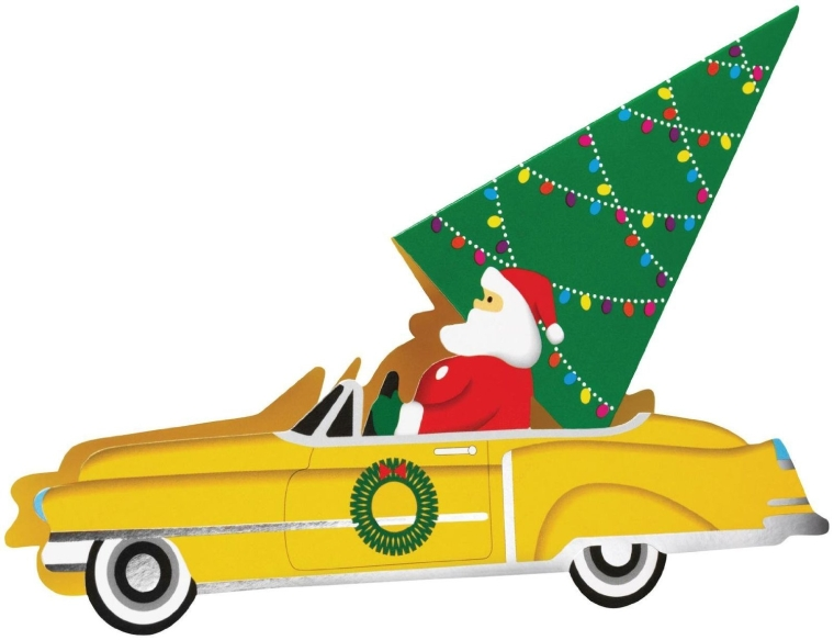 Santa's Ride Pop-up Cards