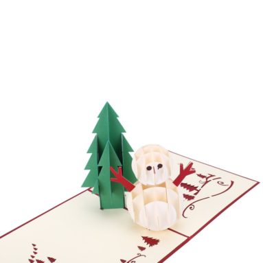 Christmas Cards 3D Pop Up Handmade Holiday Greeting Cards – 6 Cards & Envelopes