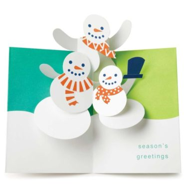 Holiday Cards Snowmen Trio