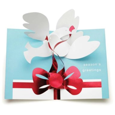 Pop-Up Doves with Gift Holiday Cards