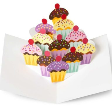 Cupcakes Pop Up Note Cards