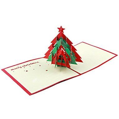 Artistic Pop-up 3D Christmas Cards Christmas Tree