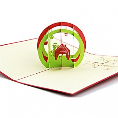 Artistic Pop-up 3D Christmas Cards Decorations