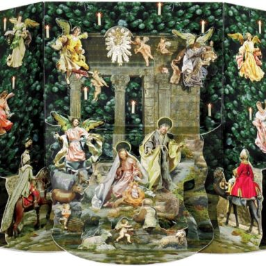 Religious Christian Holiday Cards Boxed Set Pop-Up Angel Tree