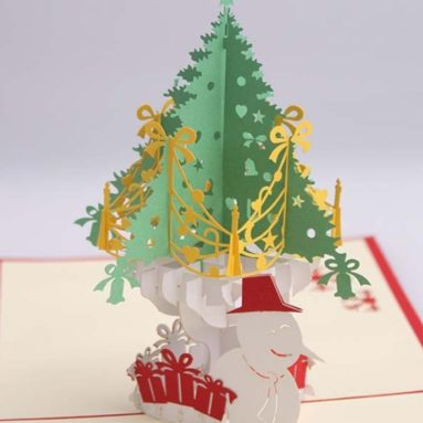 Kirigami Papercraft 3D Pop Up Cards Christmas Cards