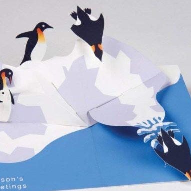 Robert Sabuda Penguins Boxed Holiday Pop Up Cards
