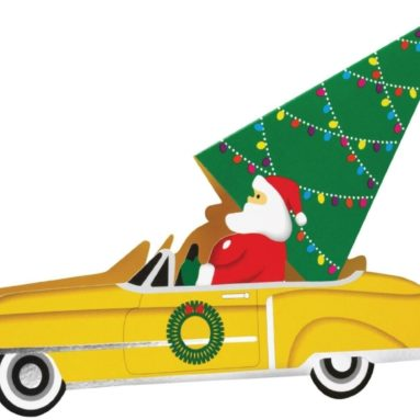 """Santa's Ride"" Pop-up Cards"
