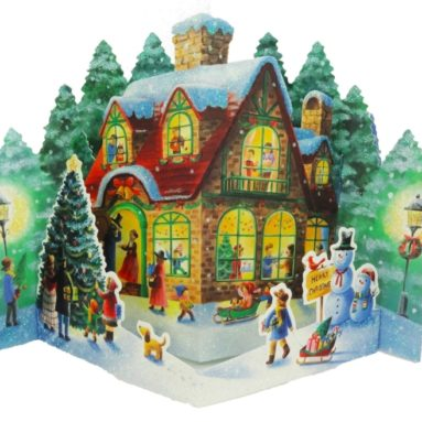 Winter Wonderland Home Pop Up Christmas Greeting Card