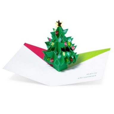 "Pop-up Cards ""Tree with Ornaments"""